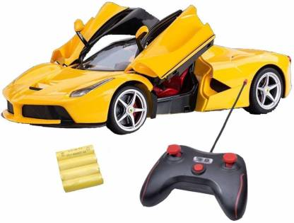 Buy Vikrida Ferrari Remote Control Toy Car For Kids Yellow By Bazarr24 Com