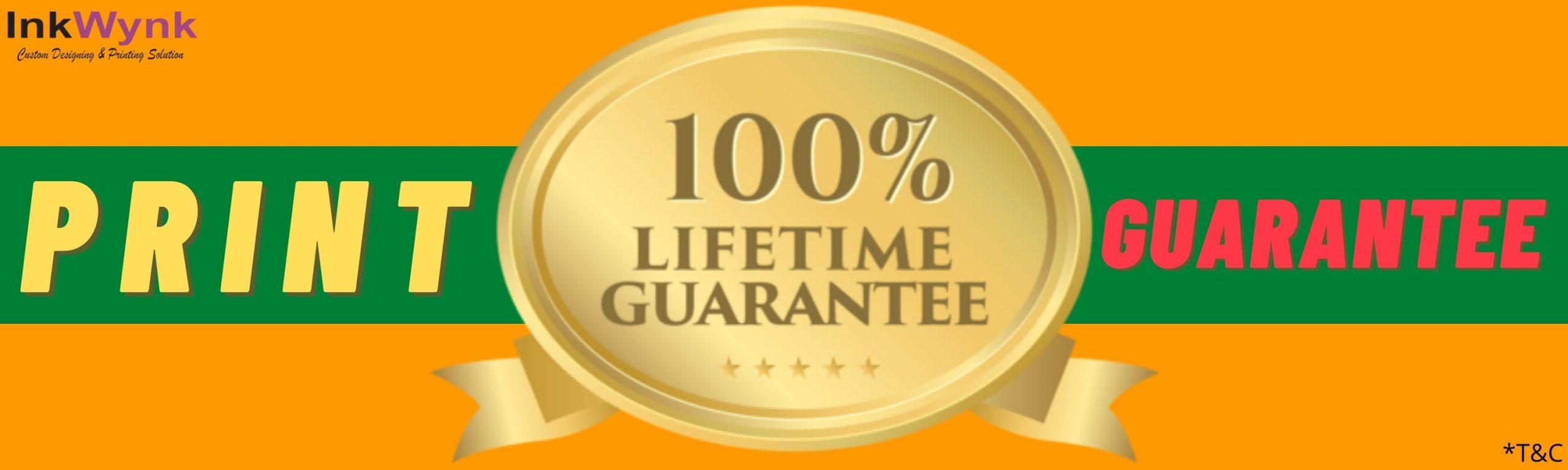 lifetime print guarantee